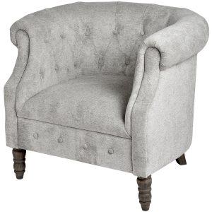 Silver Chesterfield Tub Chair