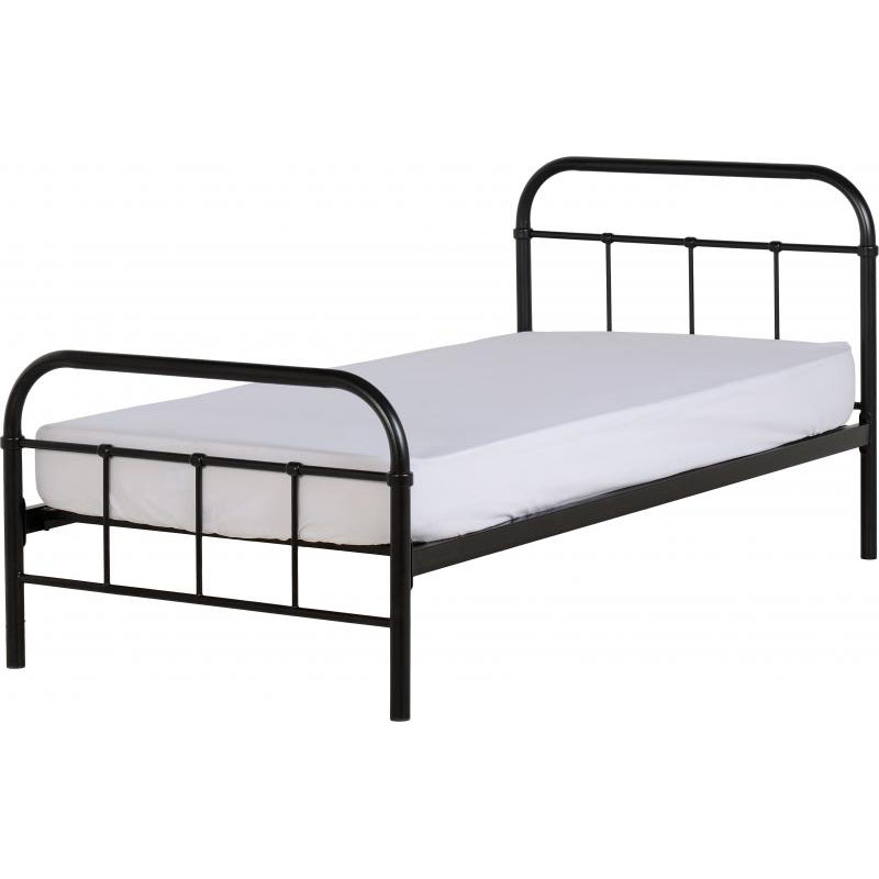 Brooklyn Metal Single Bed Frame Black