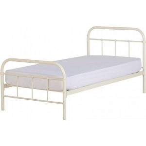 Brooklyn Single Bed Frame Cream