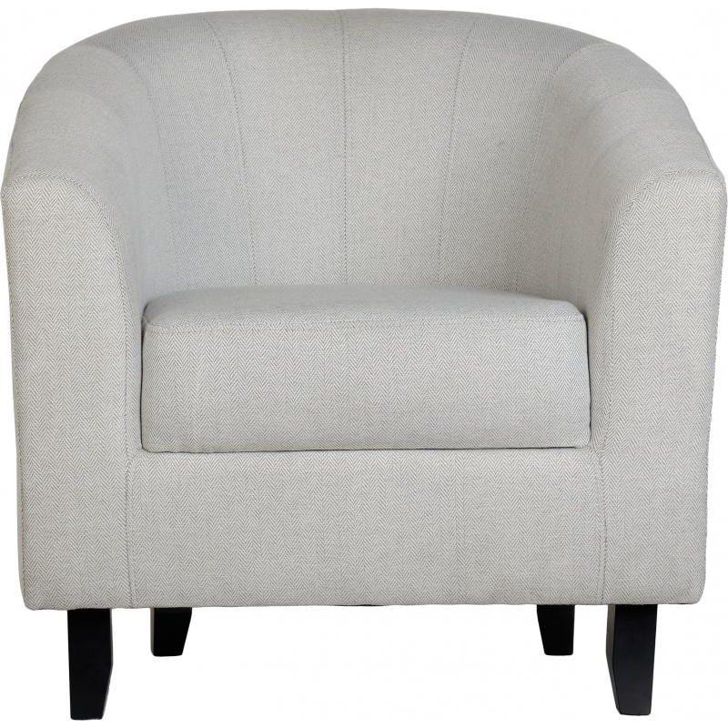Hammond Fabric Tub Chair Grey Front