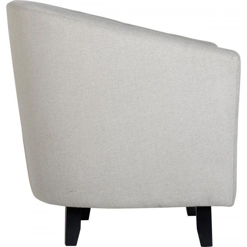 Hammond Fabric Tub Chair Grey Side