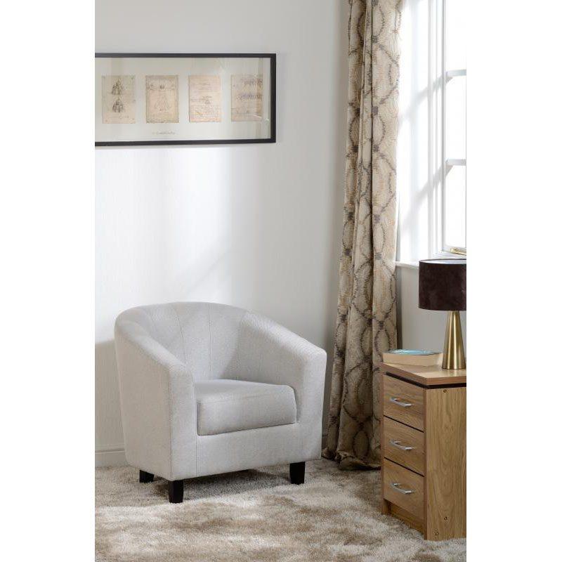 Hammond Fabric Tub Chair Grey Lifestyle