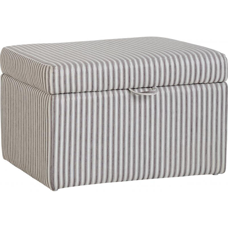Hammond Fabric Storage Stool Brown Stripe