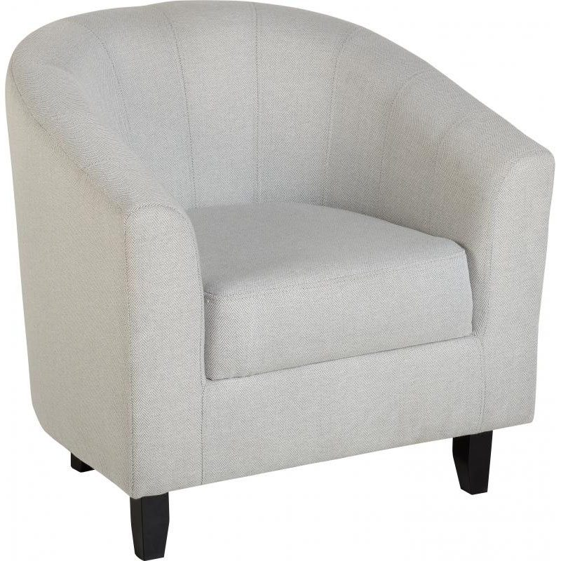 Hammond Fabric Tub Chair Herringbone Grey