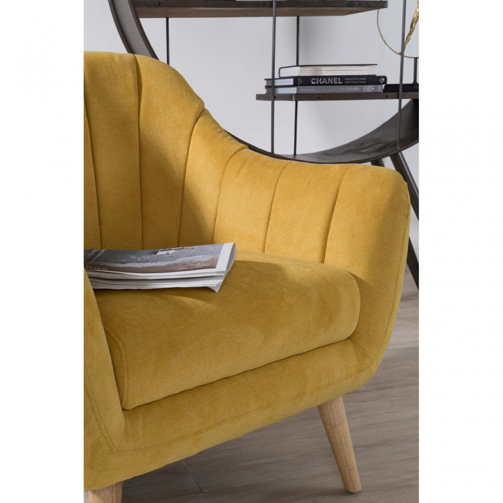 Gottenburg Yellow Fabric Armchair