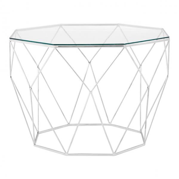 Shalimar Geometric Glass Coffee Table