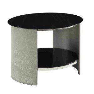 Grey Round Lamp Table San Marino