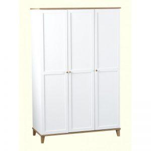 arcadia white 3 door wardrobe