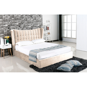 Emperor Cream Suede Bed