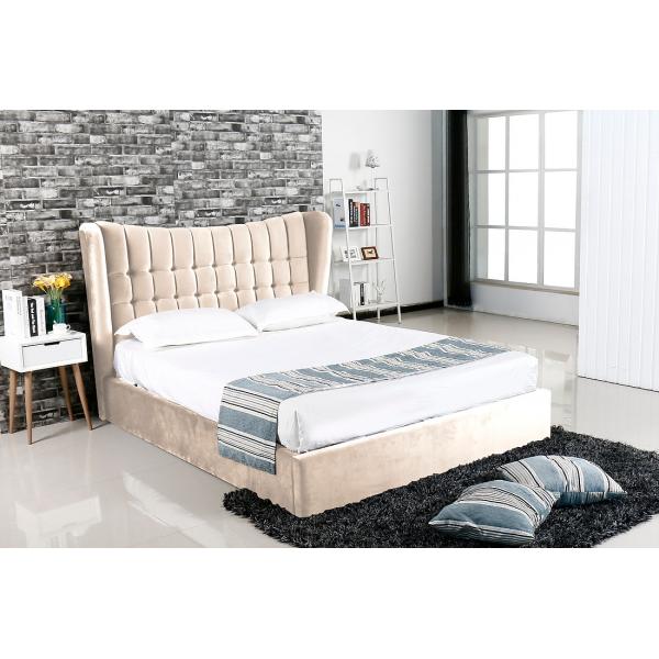 Emperor Cream Suede Bed