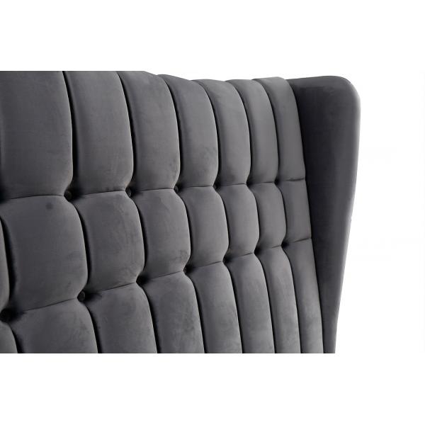 Emperor Grey Suede Bed Headboard