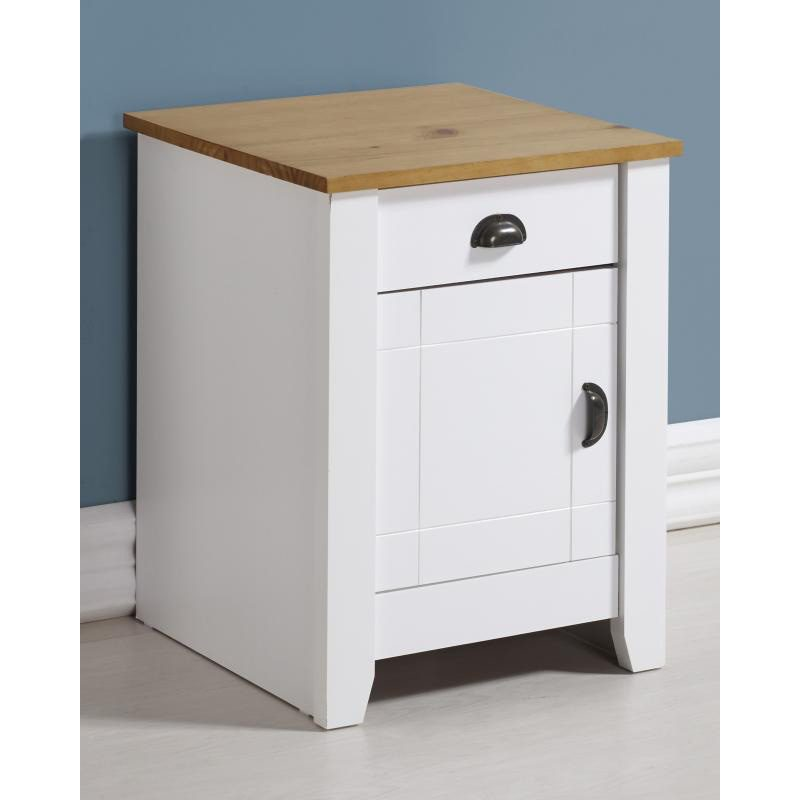 Ludlow White Bedside Table