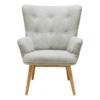 Bergen Muted Grey Fabric Armchair
