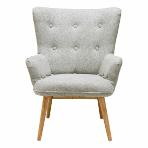Bergen Muted Grey Fabric Armchair