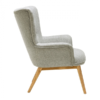 square_bergen muted grey fabric armchair side