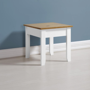 Ludlow White Painted Lamp Table