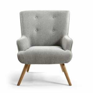 Mateo Silver Grey Fabric Armchair