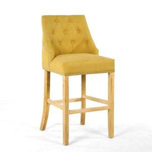 Vivian Yellow Studded Bar Chair
