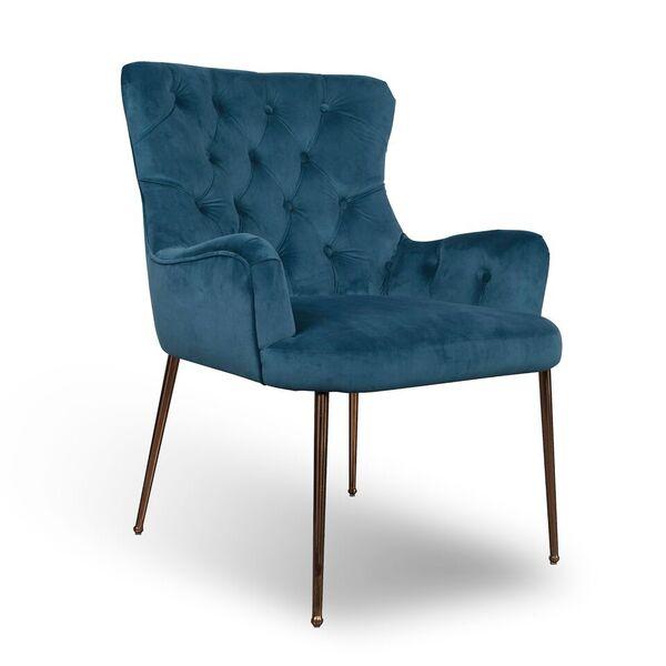 Tador Blue Brushed Velvet Accent Chair