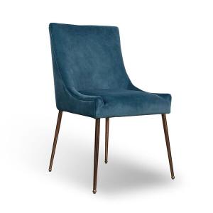 Tabor Blue Brushed Velvet Dining Chair