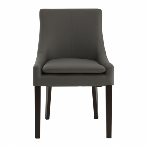 Pimlico Grey Leather Dining Chair