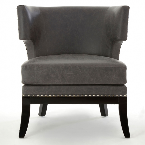 Kensington Townhouse Grey Leather Chair