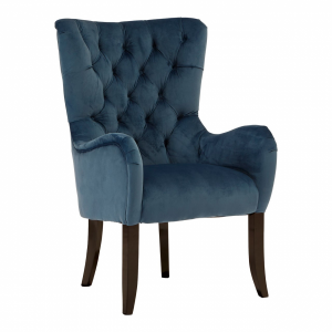 Tait Plush Blue Velvet Armchair