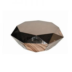 Verity Rose Gold Stainless Steel Coffee Table