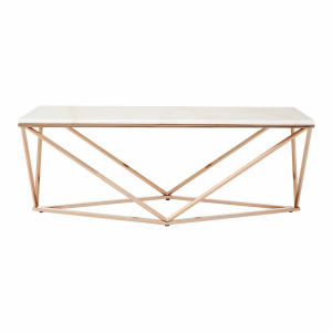 Aurelia White Faux Marble Coffee Table