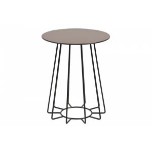 Casia Bronze Glass Lamp Table