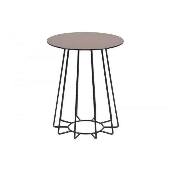 Casia Bronze Glass Lamp Table