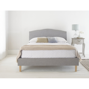 Shanghai Grey Linen Fabric Bed