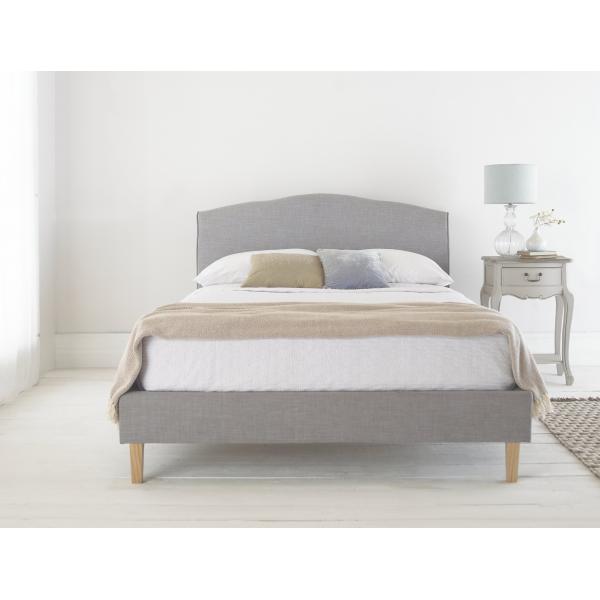 Shanghai Grey Linen Fabric Bed