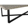 boho black stripe coffee table 2