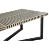 boho black stripe coffee table 3