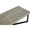 boho black stripe coffee table 4