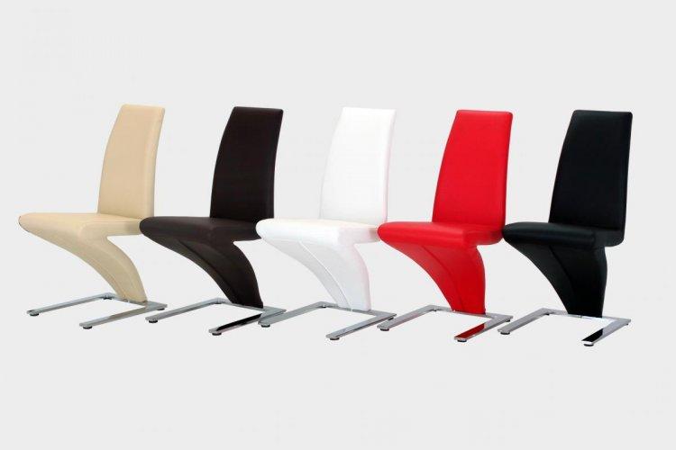 Ankara Dining Chairs (Pair) (Chair Colour: White)