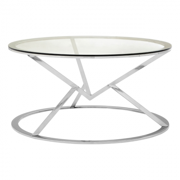 Margot Silver Round Coffee Table Living Furniture Fads