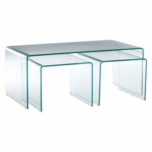 Matrix Clear Glass Coffee Table