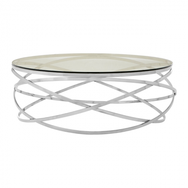 Monroe Clear Tempered Glass Coffee Table