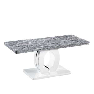 marble effect dining table