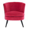 Pink Plush Velvet Round Chair