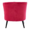square_Pink Plush Velvet Round Chair Back