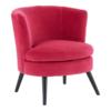 square_Pink Plush Velvet Round Chair Side