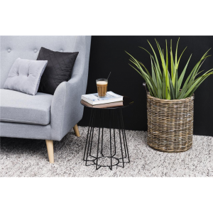 Casia Bronze Glass Lamp Table Lifestyle