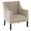 Nora Cream Velvet Armchair