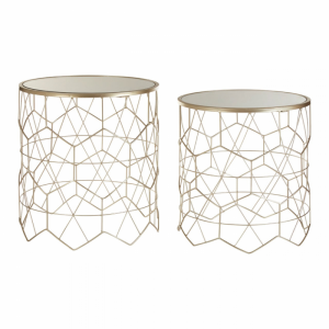 Arcana Champagne Mirrored Side Tables