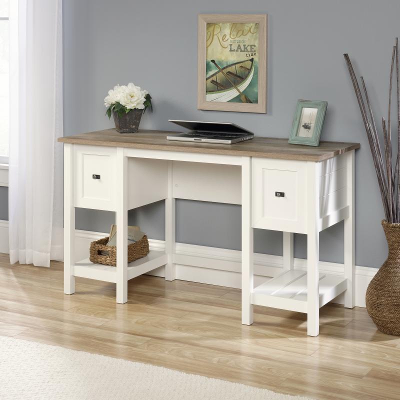Shaker Style Desk Soft White