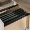 Shaker Style Desk Soft White Filing Drawer
