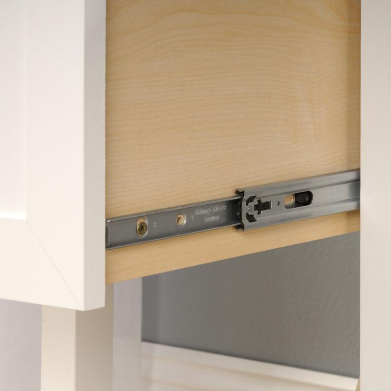 Shaker Style Desk Soft White Filing Drawer Hinge